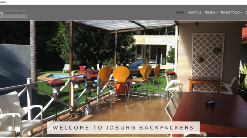 Joburg Backpackers Website Development